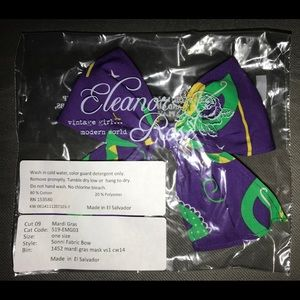 NEW Eleanor Rose Mardi Gras Sonni Bow